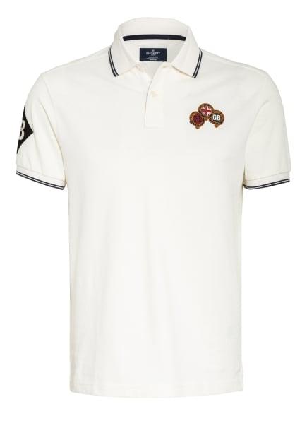 HACKETT LONDON Piqué-Poloshirt Classic Fit , Farbe: WEISS (Bild 1)