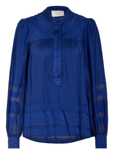 CECILIE COPENHAGEN Blusenshirt SARAH, Farbe: BLAU/ DUNKELBLAU (Bild 1)