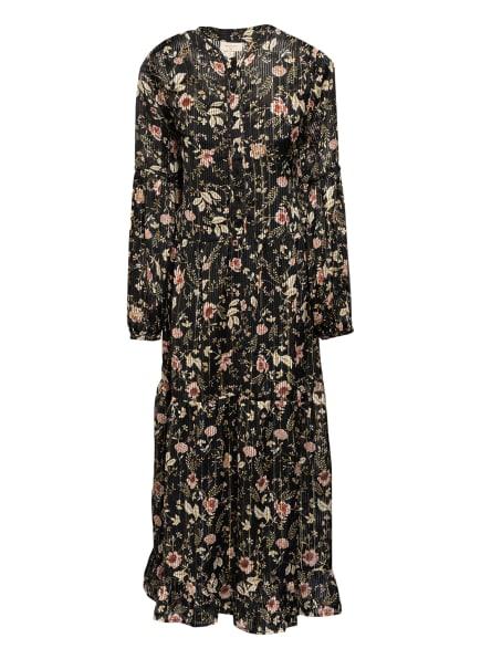 FREEQUENT Kleid mit Glitzergarn, Farbe: SCHWARZ/ GOLD/ DUNKELROT (Bild 1)
