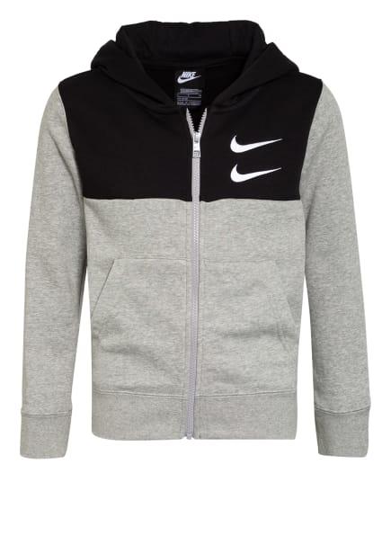 Nike Sweatjacke, Farbe: HELLGRAU/ GRAU/ SCHWARZ (Bild 1)