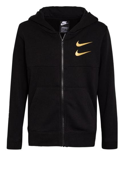 Nike Sweatjacke, Farbe: SCHWARZ/ GOLD (Bild 1)