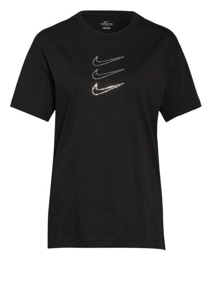 Nike T-Shirt SPORTSWEAR RHINESTONE mit Schmucksteinbesatz, Farbe: SCHWARZ (Bild 1)