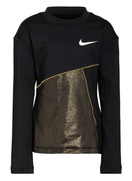 Nike Longsleeve PRO WARM, Farbe: SCHWARZ/ GOLD (Bild 1)