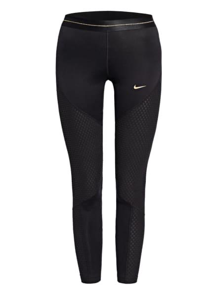 Nike Tights PRO ICON CLASH mit Fleece-Einsätzen, Farbe: SCHWARZ (Bild 1)