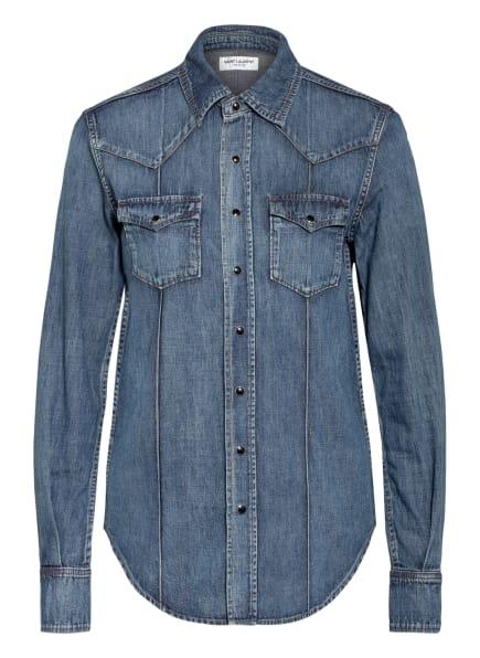 SAINT LAURENT Jeans-Hemdbluse, Farbe: DUNKELBLAU/ HELLBLAU (Bild 1)