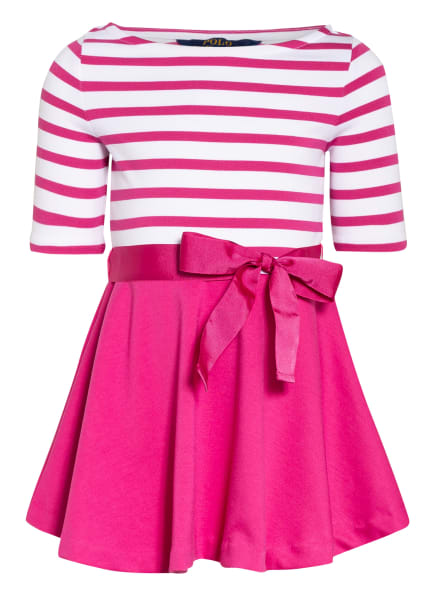 POLO RALPH LAUREN Kleid, Farbe: FUCHSIA/ WEISS (Bild 1)