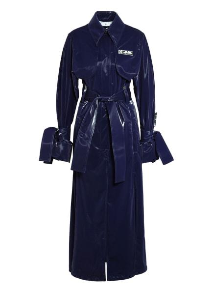 Off-White Trenchcoat in Lackleder-Optik , Farbe: DUNKELLILA (Bild 1)