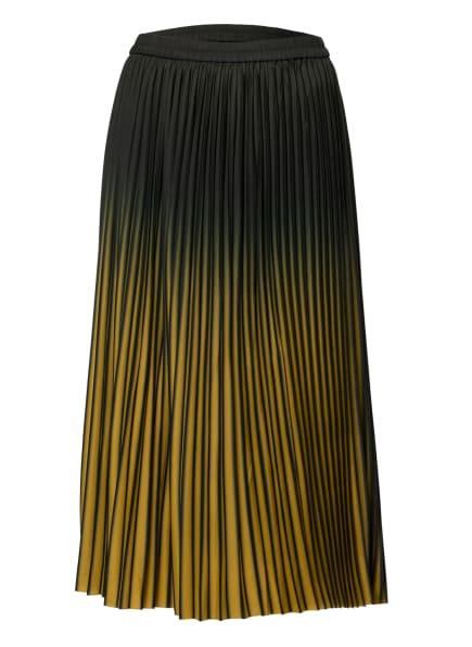 MALVIN Plisseerock, Farbe: DUNKELGRÜN/ DUNKELGELB (Bild 1)