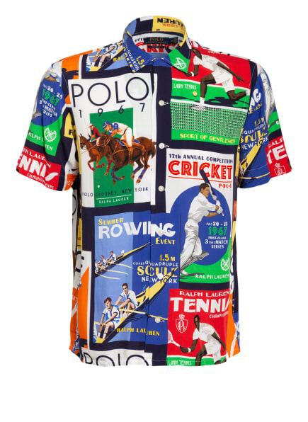 POLO RALPH LAUREN Halbarm-Hemd Custom Fit, Farbe: WEISS/ BLAU/ GRÜN (Bild 1)