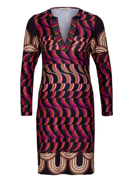 MALVIN Kleid, Farbe: SCHWARZ/ LILA/ DUNKELORANGE (Bild 1)