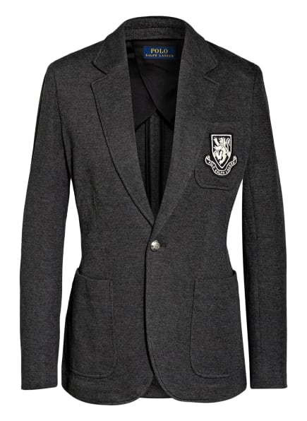 POLO RALPH LAUREN Jersey-Blazer, Farbe: DUNKELGRAU (Bild 1)