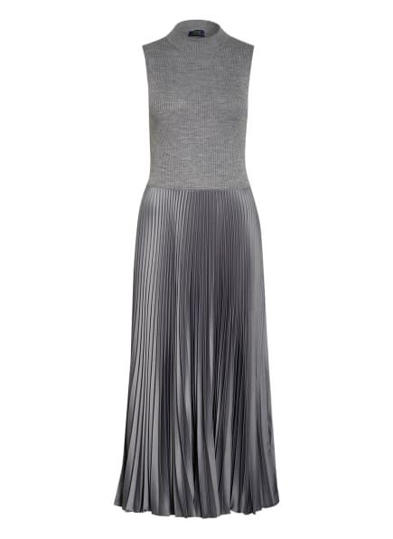 POLO RALPH LAUREN Kleid im Materialmix, Farbe: GRAU (Bild 1)