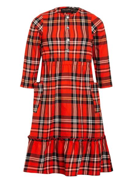 mini rodini Kleid mit 3/4-Arm, Farbe: ROT/ SCHWARZ/ WEISS (Bild 1)
