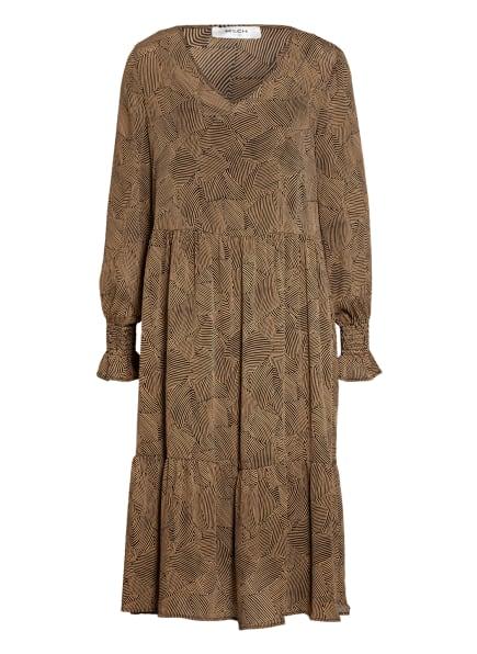 MOSS COPENHAGEN Kleid OPHELIE mit Rüschenbesatz, Farbe: SCHWARZ/ HELLBRAUN (Bild 1)