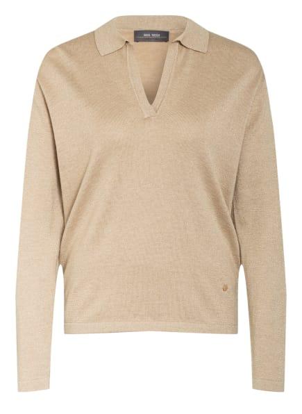 MOS MOSH Pullover mit Glitzergarnen, Farbe: BEIGE/ GOLD (Bild 1)