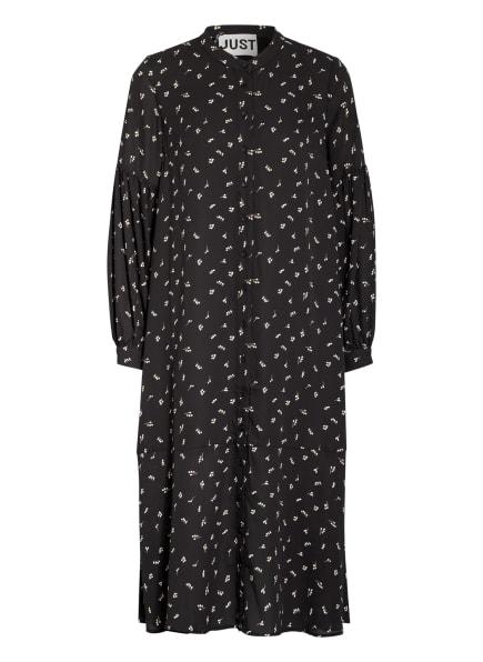 JUST FEMALE Hemdblusenkleid HYDRA mit Volantbesatz, Farbe: DUNKELBLAU/ CREME/ CAMEL (Bild 1)