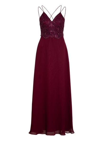 LAONA Abendkleid mit Paillettenbesatz , Farbe: DUNKELROT (Bild 1)