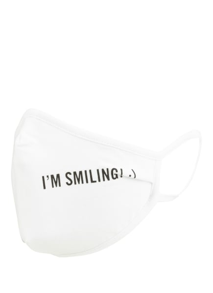 Marc O'Polo Mund- und Nasenmaske I'M SMILING, Farbe: WEISS (Bild 1)
