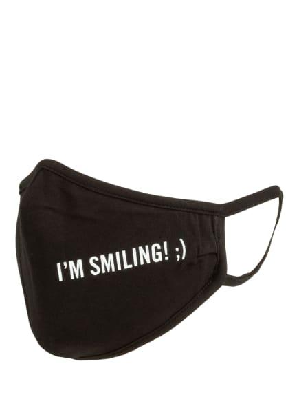Marc O'Polo Mund- und Nasenmaske I'M SMILING, Farbe: SCHWARZ (Bild 1)