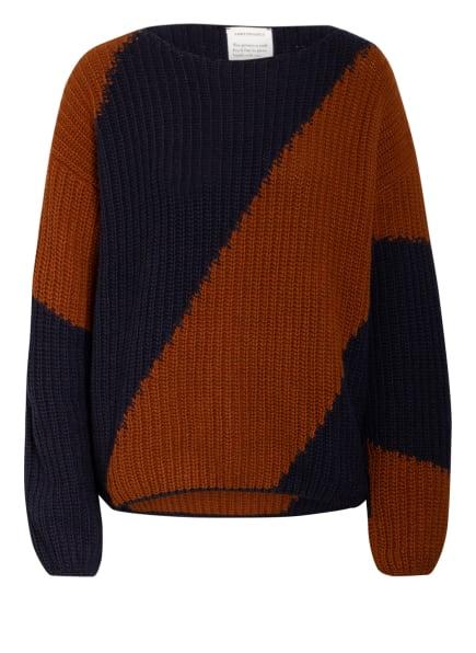 ARMEDANGELS Pullover SAADIE, Farbe: DUNKELBLAU/ BRAUN (Bild 1)