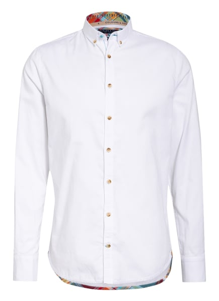 COLOURS & SONS Hemd PETER Slim Fit, Farbe: WEISS (Bild 1)