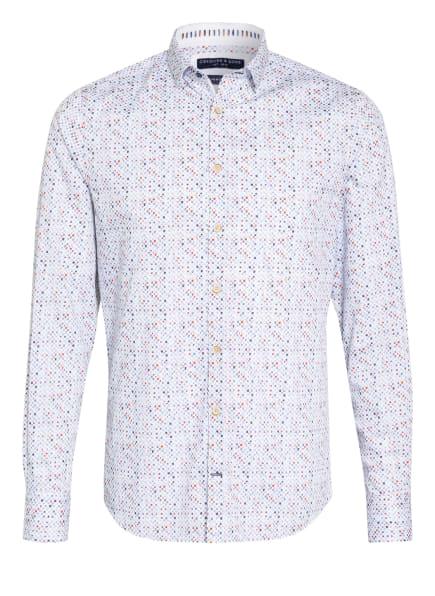 COLOURS & SONS Hemd BUD Slim Fit, Farbe: WEISS/ HELLBLAU/ ROT (Bild 1)