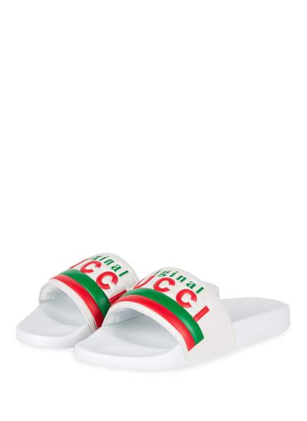 GUCCI Pantoletten, Farbe: 9014 WHITE (Bild 1)