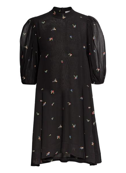 GANNI Kleid, Farbe: SCHWARZ/ GRÜN/ ROT (Bild 1)