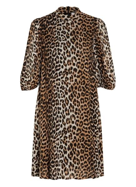 GANNI Kleid, Farbe: CREME/ CAMEL/ SCHWARZ (Bild 1)