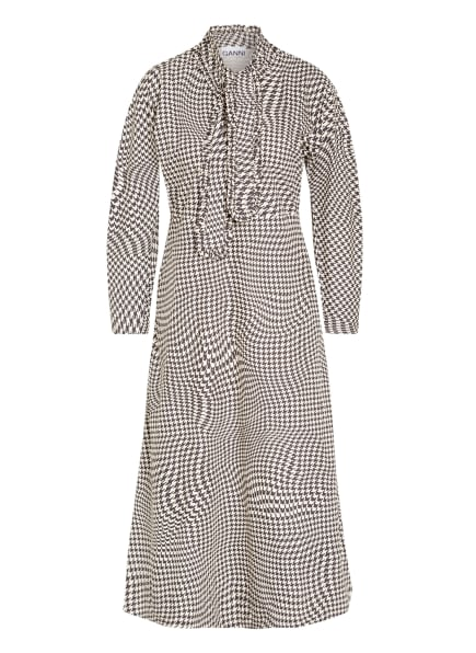 GANNI Kleid , Farbe: DUNKELGRAU/ WEISS (Bild 1)