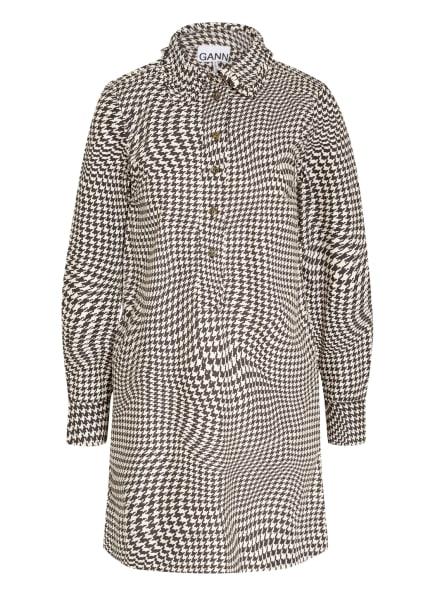 GANNI Kleid, Farbe: DUNKELGRAU/ WEISS (Bild 1)