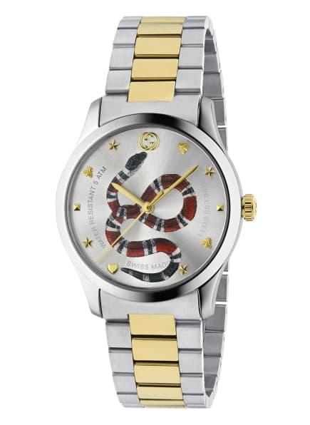 GUCCI Armbanduhr G-TIMELESS, Farbe: SILBER/ GOLD/ ROT (Bild 1)