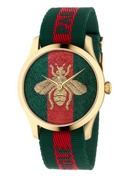 GUCCI Armbanduhr G-TIMELESS, Farbe: GRÜN/ ROT/ GOLD (Bild 1)