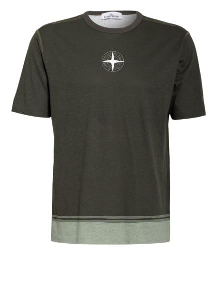 STONE ISLAND T-Shirt, Farbe: DUNKELGRÜN/ HELLGRÜN (Bild 1)