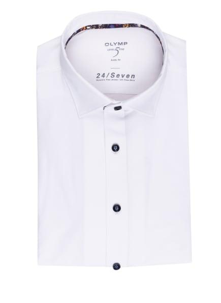 OLYMP Jerseyhemd Level Five 24/7 body fit, Farbe: WEISS (Bild 1)