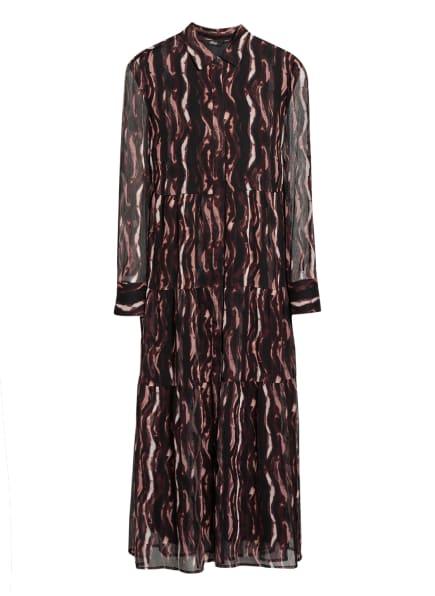 s.Oliver BLACK LABEL Hemdblusenkleid, Farbe: DUNKELROT/ ROSÉ (Bild 1)