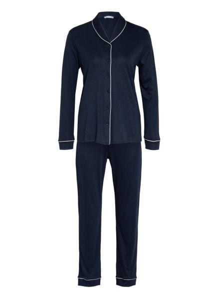 HANRO Schlafanzug NATURAL COMFORT , Farbe: DUNKELBLAU (Bild 1)