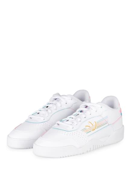 adidas Originals Sneaker CARRERA LOW PRIDE, Farbe: WEISS/ ROSA/ TÜRKIS (Bild 1)