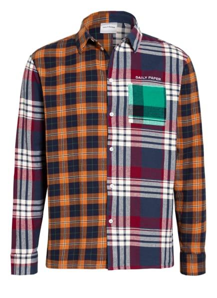 DAILY PAPER Flanellhemd Comfort Fit, Farbe: DUNKELBLAU/ DUNKELROT/ DUNKELORANGE (Bild 1)