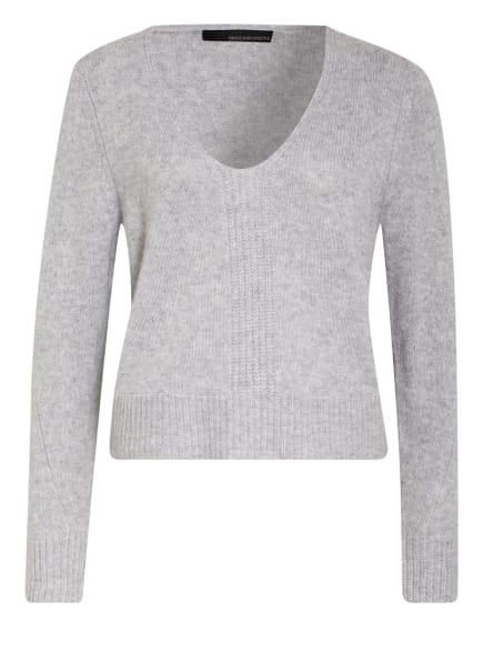 360CASHMERE Cashmere-Pullover WENDI, Farbe: HELLGRAU/ WEISS (Bild 1)