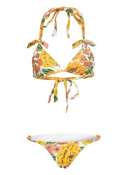 ZIMMERMANN Triangel-Bikini POPPY, Farbe: GELB/ WEISS/ GRÜN (Bild 1)