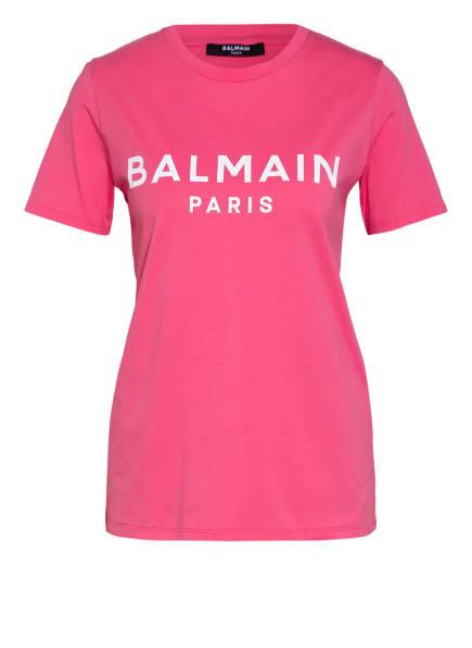 BALMAIN T-Shirt, Farbe: PINK/ WEISS (Bild 1)