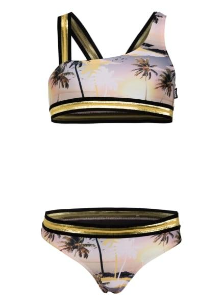 molo Bustier-Bikini NICOLA mit Glitzergarn, Farbe: GELB/ NUDE/ OLIV (Bild 1)