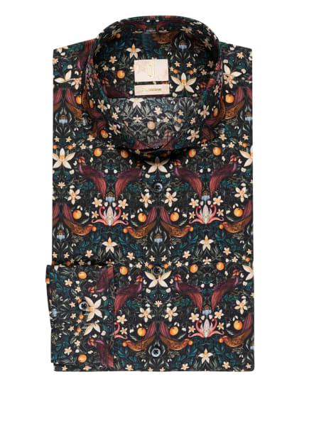 Q1 Manufaktur Hemd Extra Slim Fit, Farbe: DUNKELBLAU/ ROT/ ORANGE (Bild 1)