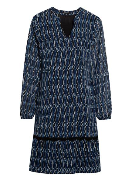comma Kleid mit Spitzenbesatz, Farbe: DUNKELBLAU/ BLAU/ WEISS (Bild 1)
