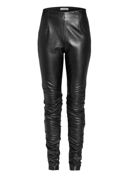 DOROTHEE SCHUMACHER Hose in Lederoptik, Farbe: SCHWARZ (Bild 1)