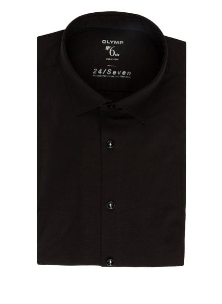 OLYMP Jerseyhemd No. Six 24/7 super slim, Farbe: SCHWARZ (Bild 1)