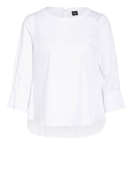 s.Oliver BLACK LABEL Blusenshirt mit 3/4-Arm, Farbe: WEISS (Bild 1)