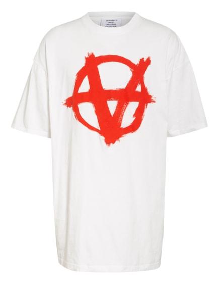 VETEMENTS Oversized-Shirt, Farbe: WEISS/ ROT (Bild 1)