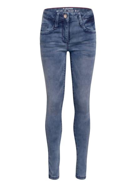 s.Oliver RED Jeans SURI Slim Fit, Farbe: HELLBLAU (Bild 1)